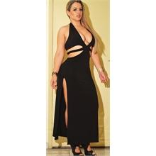 Vestido Longo Malha Com Fenda Lateral Sexy (Angel Lima) 318 - Código V511  Cor 028baaa0b1f